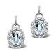 Aquamarine 3.69CT And Diamond 9K White Gold Earrings - image 1