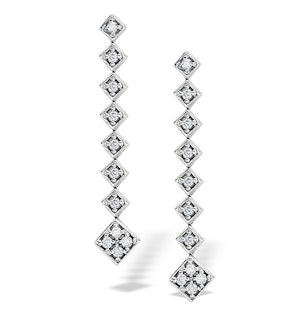 0.50ct Diamond and 9K White Gold Earrings - H4520