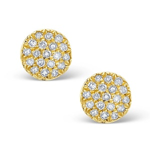 0.60ct Diamond and 9K Gold Daisy Earrings -  H4521