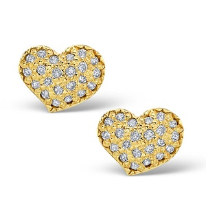 0.72ct Diamond and 9K Gold Daisy Earrings - H4534