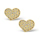 0.72ct Diamond and 9K Gold Daisy Earrings - H4534 - image 1