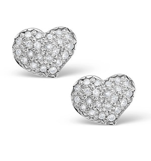 0.72ct Diamond and 9K White Gold Daisy Earrings - H4535