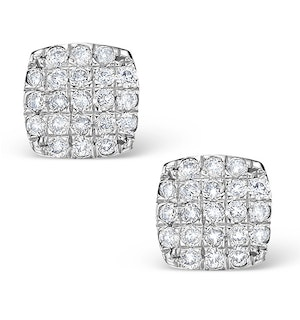 0.44ct Diamond and 9K White Gold Daisy Earrings - H4538