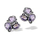 10ct Amethyst 0.28ct Diamond and 9K White Gold Earrings - H4545 - image 1