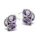 10ct Amethyst 0.28ct Diamond and 9K White Gold Earrings - H4545 - image 2