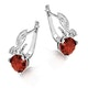 3.07ct Garnet 0.05ct Diamond and 9K White Gold Earrings - H4548 - image 2