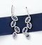 1.96ct Sapphire 1.49ct Diamond and 9K White Gold Drop Earrings - H4556 - image 4