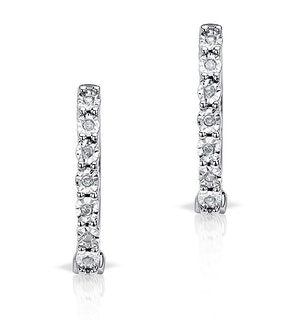 0.06ct Diamond and 9K White Gold Earrings - H4557