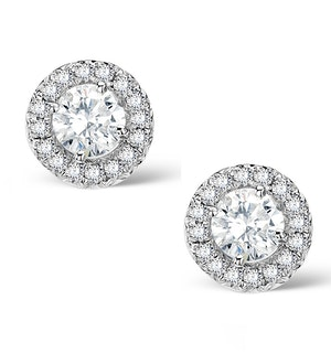 Halo Diamond Earrings - Ella - 0.55ct 9K White Gold - H4565