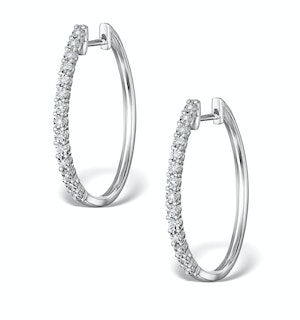 Hoop Earrings Diamond and 9K White Gold H4568