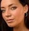Hoop Earrings 30mm Diamond and 9K White Gold H4569 - image 3