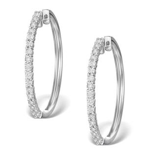 Hoop Earrings 30mm Diamond and 9K White Gold H4569