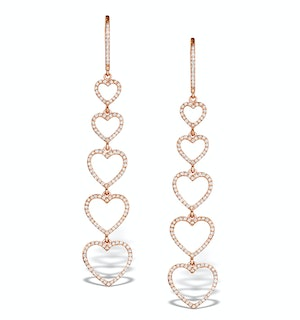Vivara Collection 0.97ct Diamond and 9K Rose Gold Earrings H4572