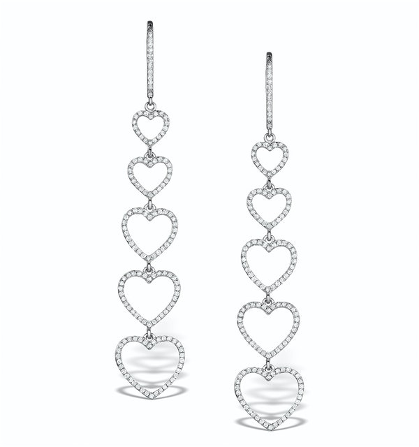 Vivara Collection 0.97ct Diamond and 9K White Gold Earrings H4572y - image 1