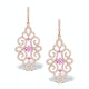 Vivara Collection Pink Sapphire and Diamond 9K Gold Earrings H4576 - image 1