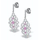 Vivara Collection Pink Sapphire and Diamond 9K Gold Earrings H4576Y - image 2