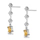 Yellow Sapphire 0.52CT And Diamond 9K White Gold Earrings - image 2
