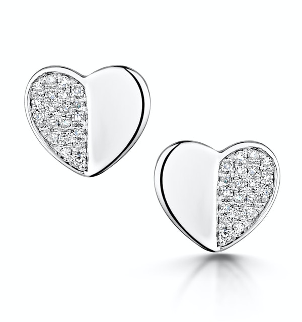 Stellato Collection Diamond Earrings 0.08ct in 9K White Gold - image 1