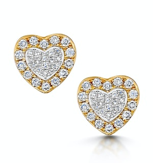 Stellato Collection Halo Diamond Earrings 0.32ct in 9K White Gold