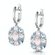 Rose Quartz Blue Topaz and Diamond Stellato Earrings in 9K White Gold - image 3