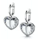 Quartz and Diamond Stellato Earrings 0.05ct in 9K White Gold - image 3