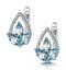 Blue Topaz and Diamond Stellato Earrings 0.09ct in 9K White Gold - image 3