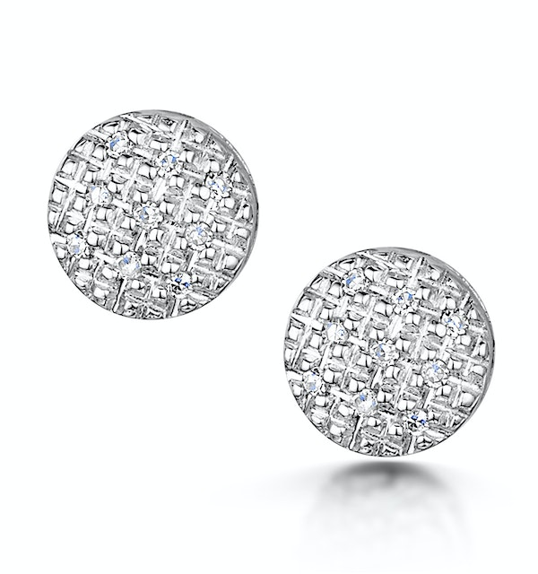 Stellato Collection Diamond Earrings 0.06ct in 9K White Gold - H4596 - image 1