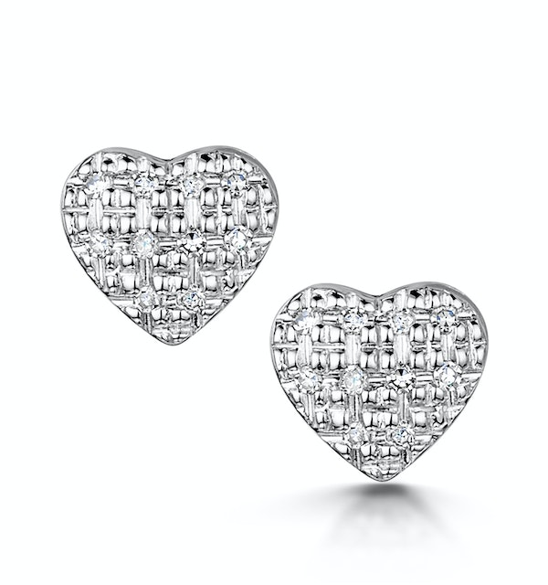 Stellato Collection Diamond Earrings 0.07ct in 9K White Gold - H4597 - image 1