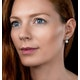7.5mm Pearl Blue Topaz and Diamond Stellato Earrings in 9K White Gold - image 2