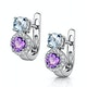 Amethyst Blue Topaz and Diamond Stellato Earrings in 9KW Gold  H4590 - image 3