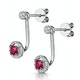 Stellato Collection Ruby and Diamond Earrings 0.12ct in 9K White Gold - image 3