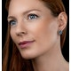 Sapphire Yellow Sapphire and Diamond Stellato Earrings 9K White Gold - image 2