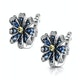 Sapphire Yellow Sapphire and Diamond Stellato Earrings 9K White Gold - image 3