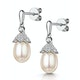 Stellato Pearl and Diamond Earrings 0.12ct in 9K White Gold  H4501 - image 3