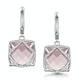 Rose Quartz and Diamond Stellato Earrings 0.28ct 9K White Gold - image 1