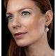 Rose Quartz and Diamond Stellato Earrings 0.36ct in 9K White Gold - image 2
