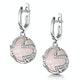 Rose Quartz and Diamond Stellato Earrings 0.36ct in 9K White Gold - image 3