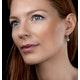 Stellato Blue Topaz and Diamond Earrings 0.03ct in 9K White Gold - image 2