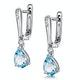 Stellato Blue Topaz and Diamond Earrings 0.03ct in 9K White Gold - image 3