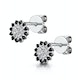 Black Diamond and Diamond Stellato Earrings in 9K White Gold - image 3