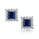 Stellato Collection Sapphire and Diamond Earrings in 9K White Gold - image 1