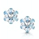 Stellato Collection Blue Topaz Earrings in 9K White Gold - image 1