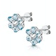Stellato Collection Blue Topaz Earrings in 9K White Gold - image 3