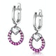 Stellato Collection Pink Sapphire and Diamond Earrings 9K White Gold - image 3