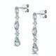 Stellato Collection Blue Topaz and Diamond Earrings in 9K White Gold - image 3