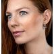 Black Diamond Sapphire Hamsa Evil Eye Stellato Earrings 9K White Gold - image 2