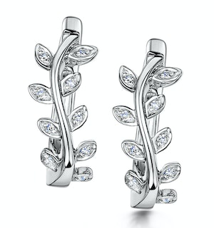 Stellato Collection Diamond Earrings 0.06ct in 9K White Gold
