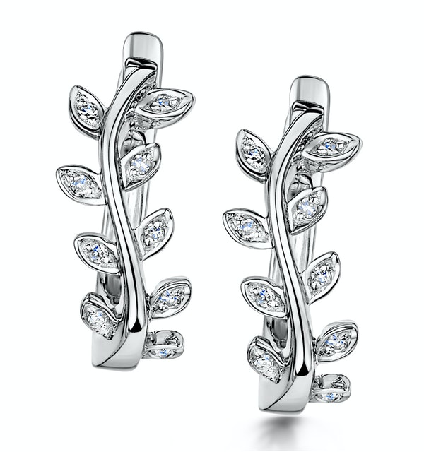 Stellato Collection Diamond Earrings 0.06ct in 9K White Gold - image 1