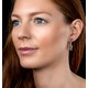 Amethyst Blue Topaz and Diamond Stellato Earrings in 9K White Gold - image 2