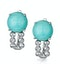 8mm Amazonite and Diamond Stellato Earrings in 9K White Gold - image 1
